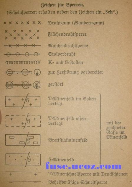 обозначение минных заграждений на немецких картах